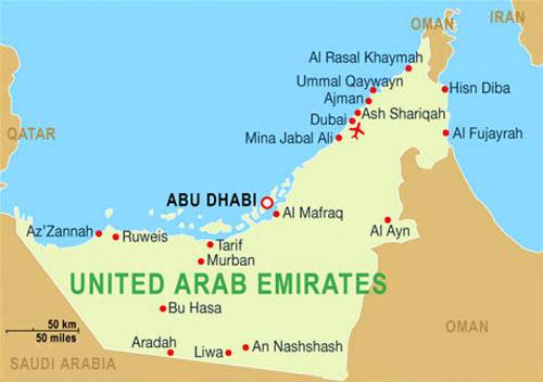 mapa emirats